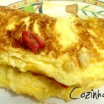 Omelete com Queijo e Tomate
