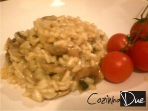 risoto com cogumelo cozinhadue